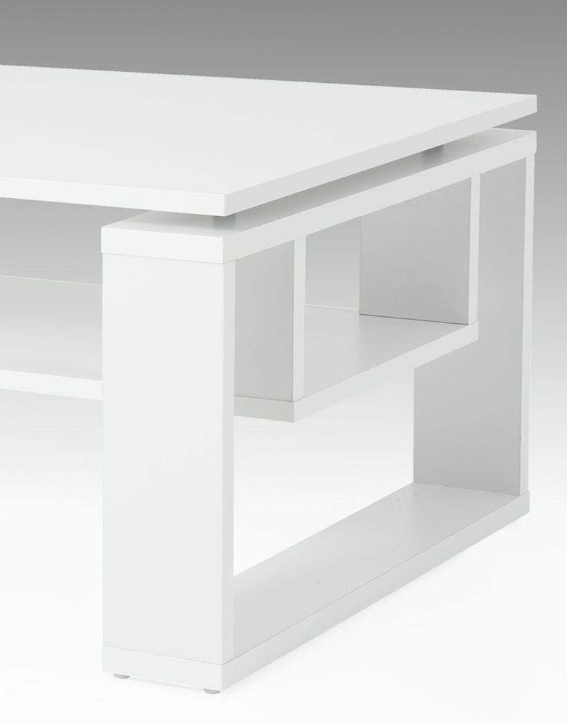 Couchtisch Tomke Weiß 110x70x42 cm Tisch Sofatisch