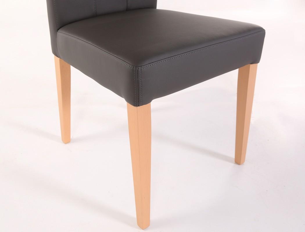 Stuhl louisa kunstleder massivholz polsterstuhl mit griff for Esszimmerstuhl mit griff