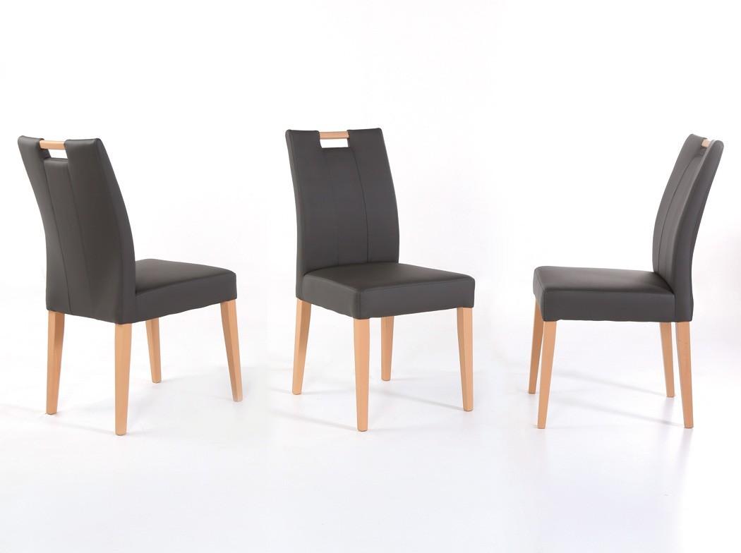 stuhl louisa kunstleder massivholz polsterstuhl mit griff varianten wohnbereiche esszimmer. Black Bedroom Furniture Sets. Home Design Ideas