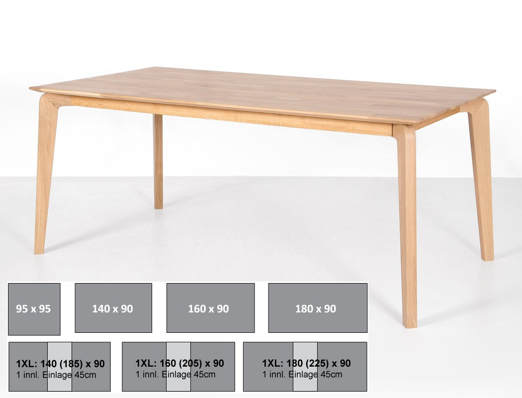 esstisch linao b tisch fest oder ausziehbar variante massivholztisch wohnbereiche esszimmer. Black Bedroom Furniture Sets. Home Design Ideas