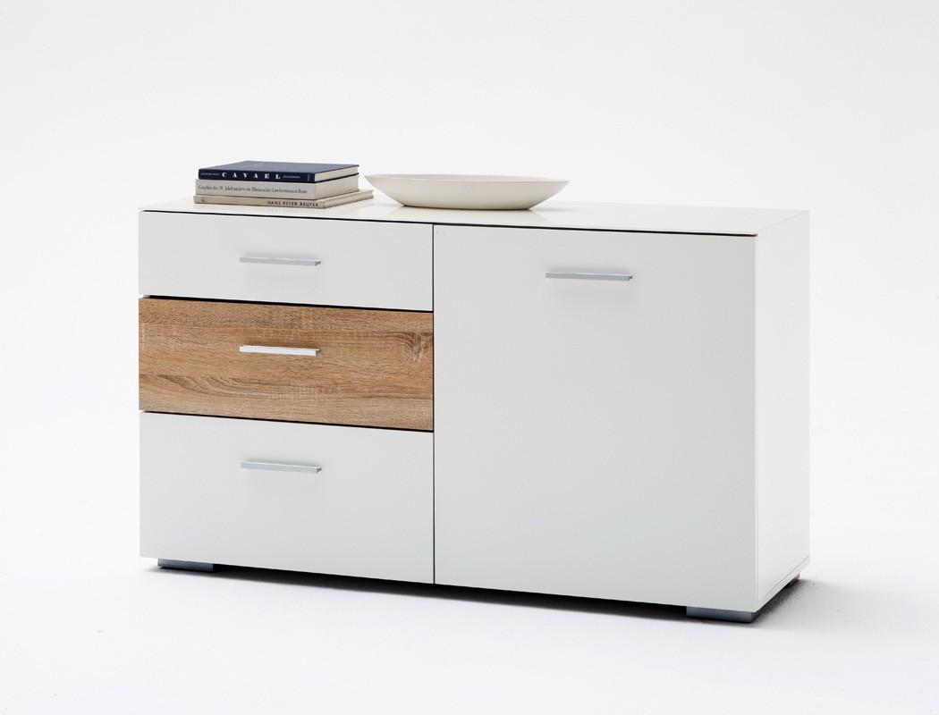 sideboard paskal 120x72x40cm wei hochglanz anrichte schrank esszimmer wohnbereiche esszimmer. Black Bedroom Furniture Sets. Home Design Ideas