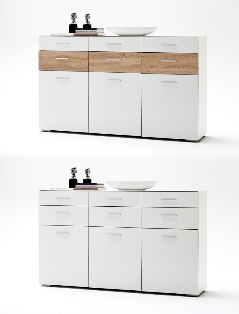 sideboard paskal 180x110x40 wei hochglanz anrichte. Black Bedroom Furniture Sets. Home Design Ideas