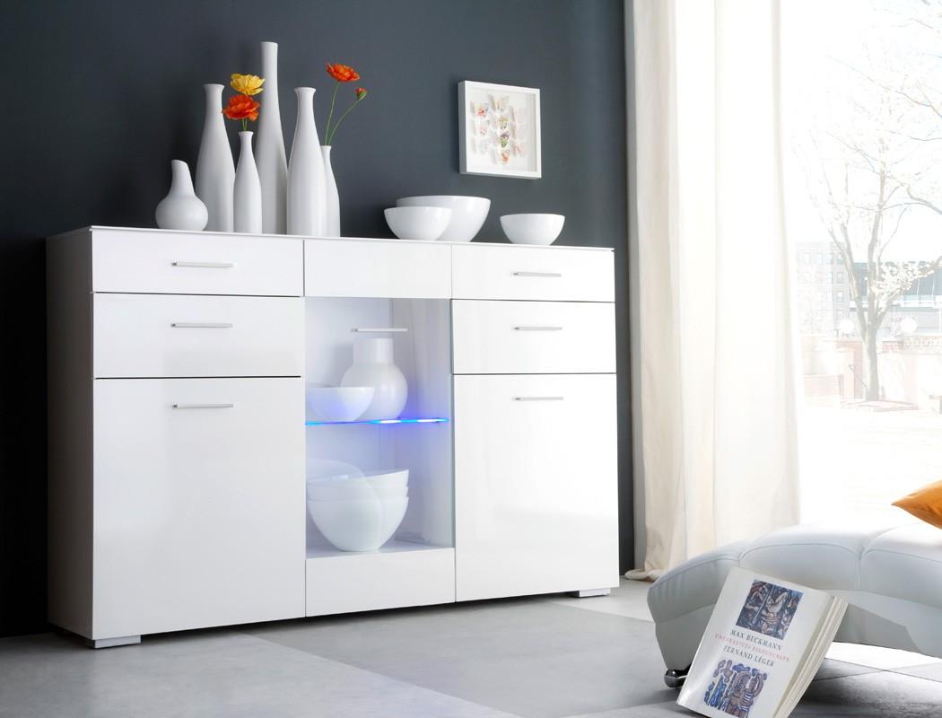 highboard paskal 169x110x40 cm wei hochglanz sideboard. Black Bedroom Furniture Sets. Home Design Ideas