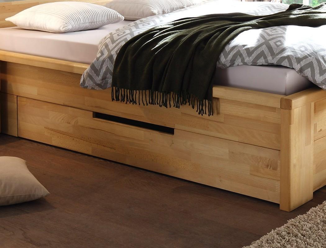 massivholzbett caspar 200x200 kernbuche ge lt stauraumbett doppelbett wohnbereiche schlafzimmer. Black Bedroom Furniture Sets. Home Design Ideas
