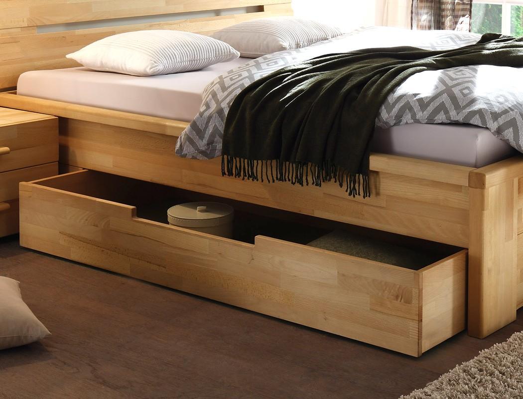 massivholzbett caspar nachttisch kernbuche ge lt. Black Bedroom Furniture Sets. Home Design Ideas