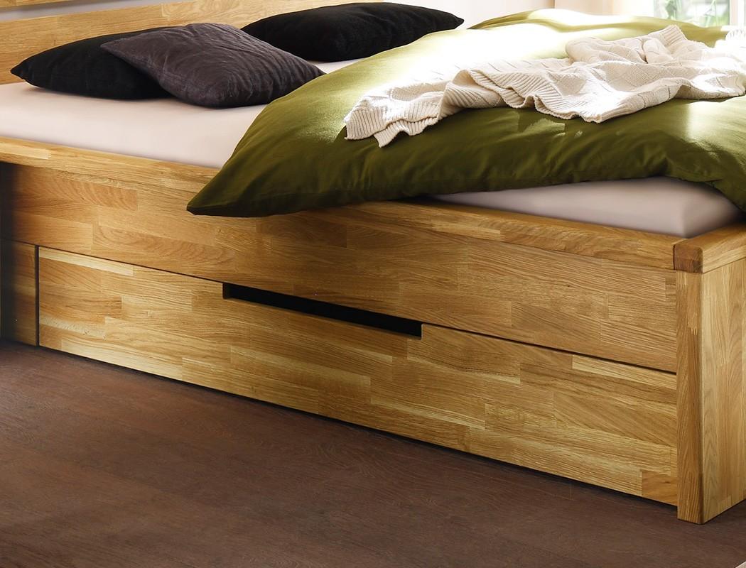 massivholzbett caspar 140x200 wildeiche ge lt stauraumbett jugendbett wohnbereiche schlafzimmer. Black Bedroom Furniture Sets. Home Design Ideas