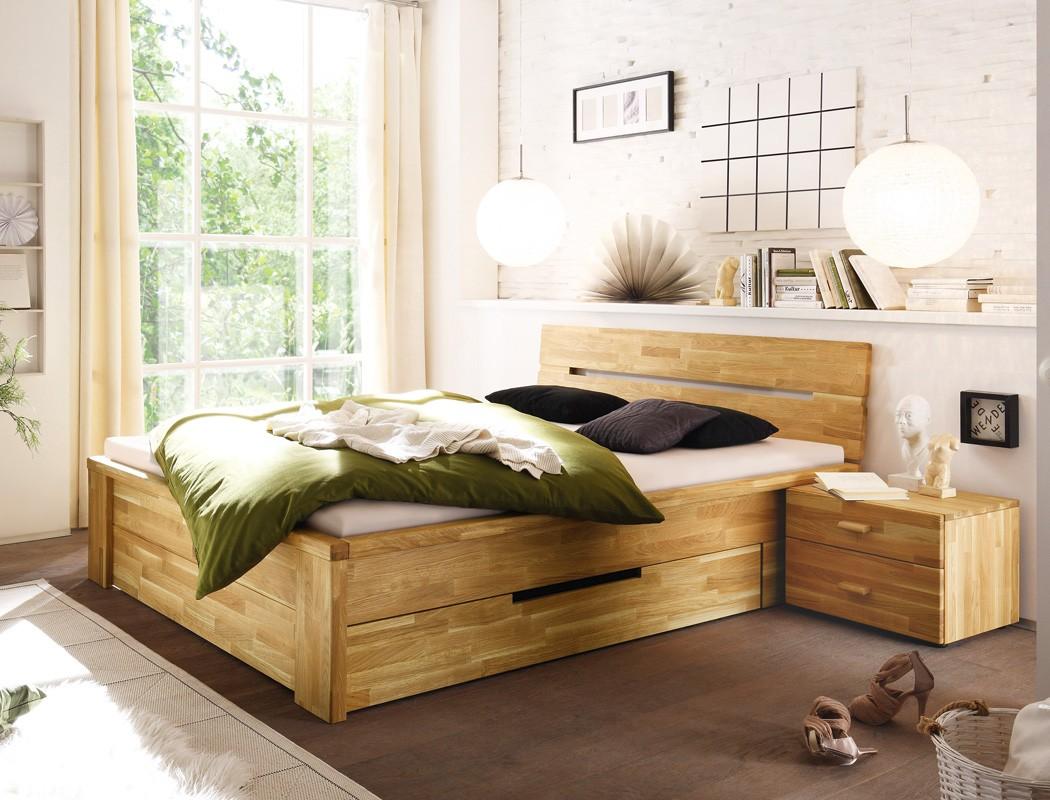 massivholzbett caspar 180x200 wildeiche ge lt stauraumbett doppelbett wohnbereiche schlafzimmer. Black Bedroom Furniture Sets. Home Design Ideas