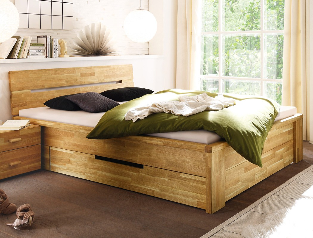 massivholzbett bett 180x200 wildeiche ge lt stauraumbett doppelbett caspar ebay. Black Bedroom Furniture Sets. Home Design Ideas
