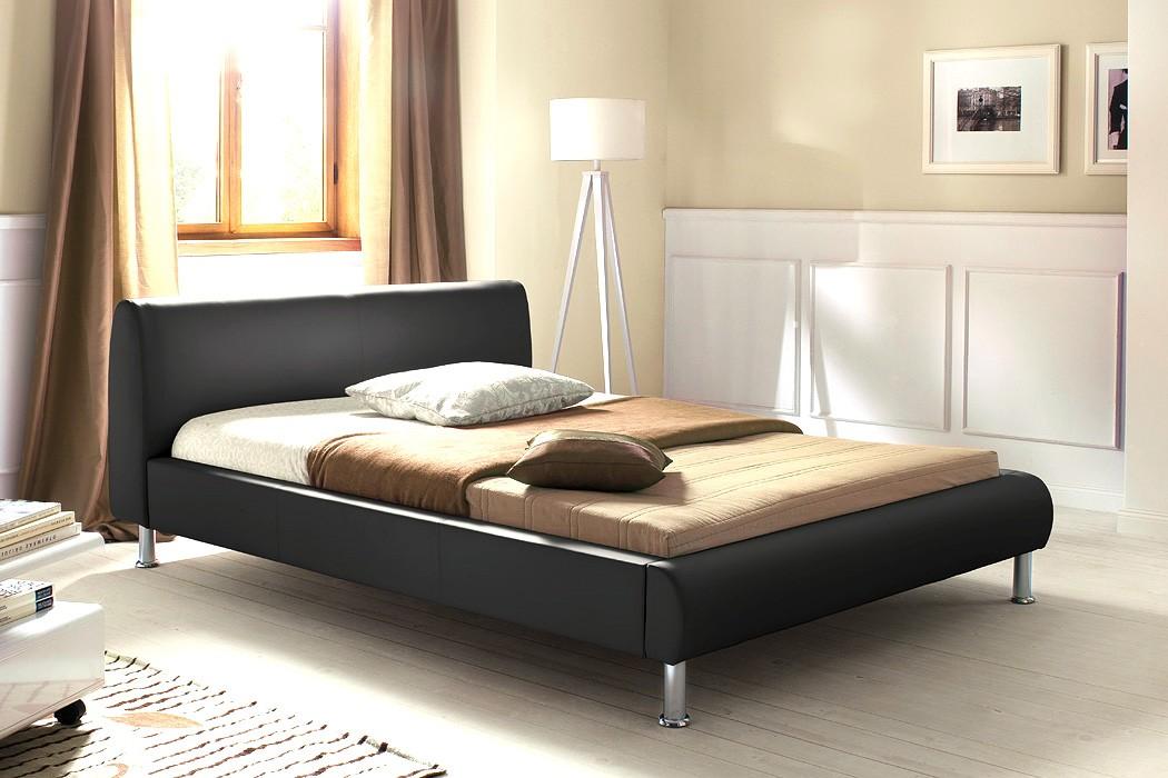polsterbett mirco 140x200 schwarz kunstleder singlebett designerbett wohnbereiche schlafzimmer. Black Bedroom Furniture Sets. Home Design Ideas