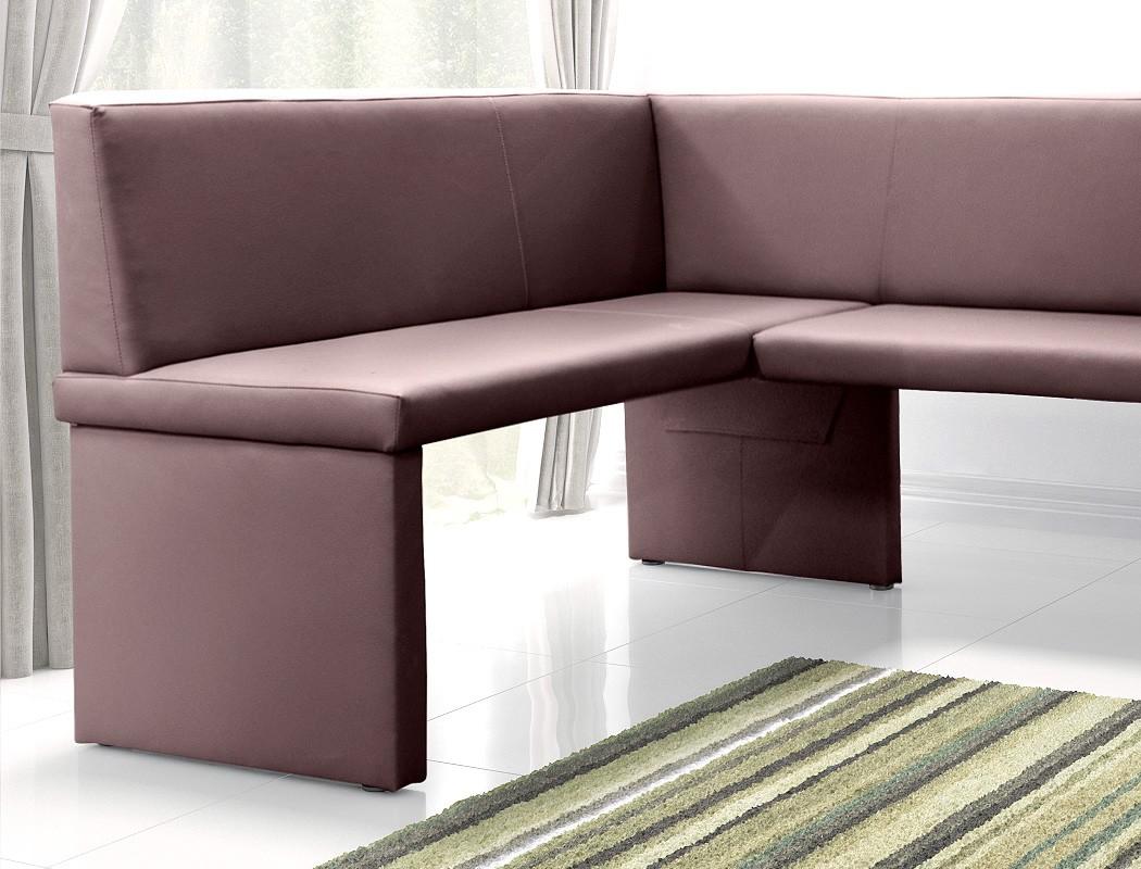 eckbank 140x200x89 cm braun kunstleder kurzer schenkel. Black Bedroom Furniture Sets. Home Design Ideas