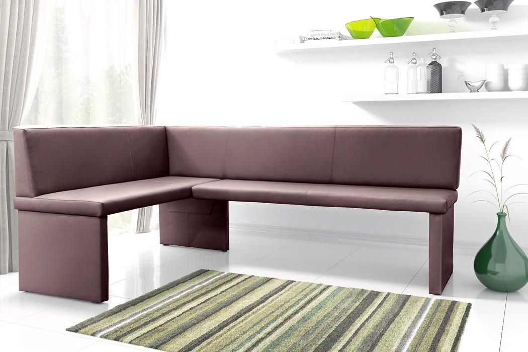 eckbank 140x200x89 cm braun kunstleder kurzer schenkel links polsterbank otis ebay. Black Bedroom Furniture Sets. Home Design Ideas