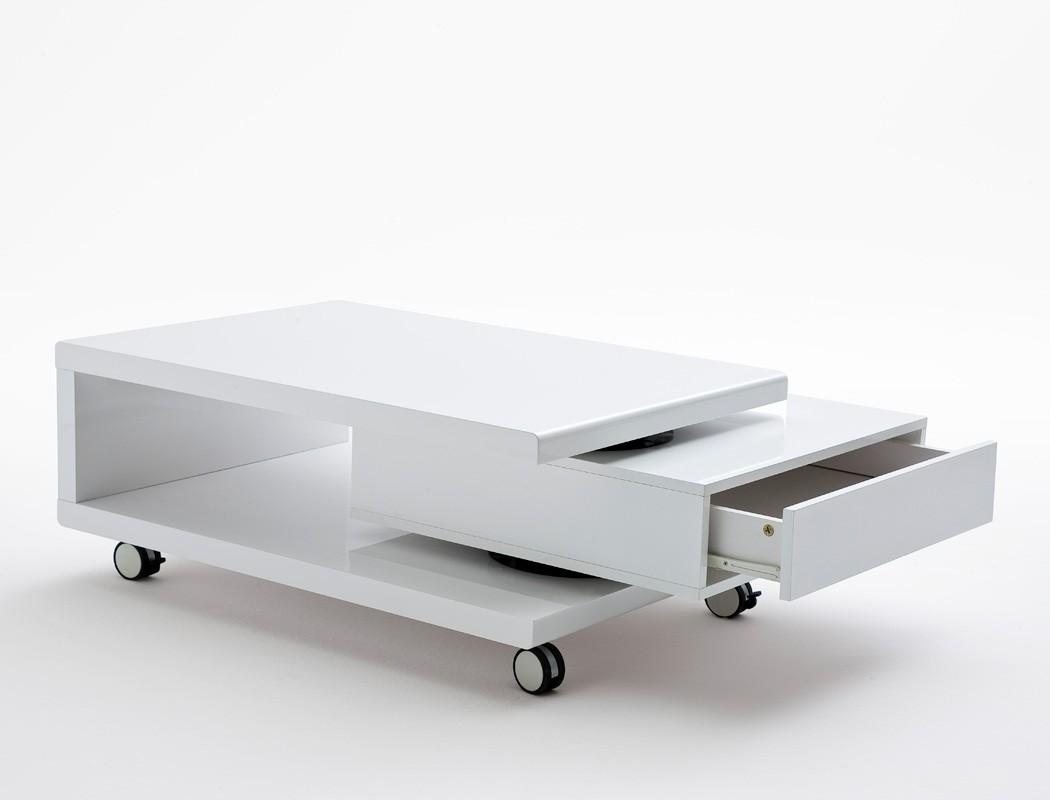 couchtisch angelus 90 120 x60x36 hochglanz wei sofatisch auf rollen wohnbereiche wohnzimmer. Black Bedroom Furniture Sets. Home Design Ideas