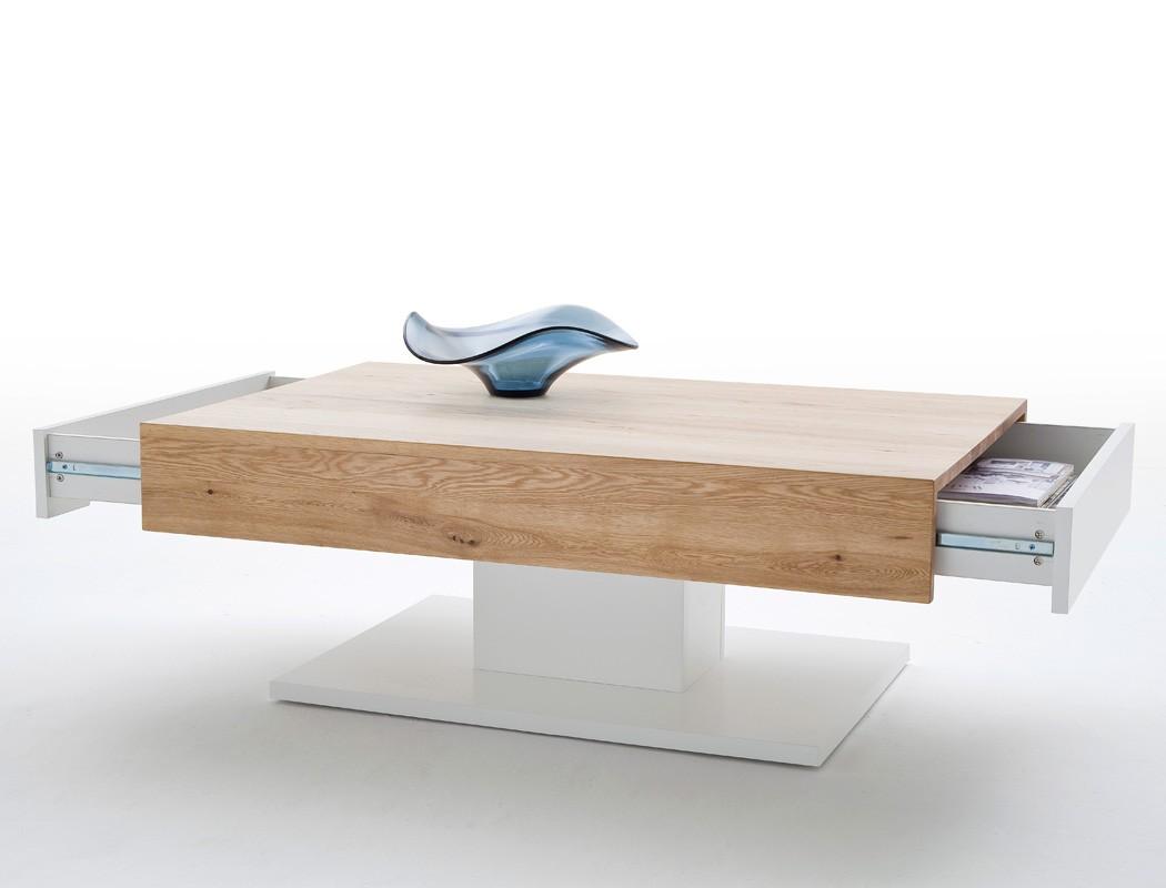 couchtisch 110x70x40 cm wei eiche furniert sofatisch. Black Bedroom Furniture Sets. Home Design Ideas