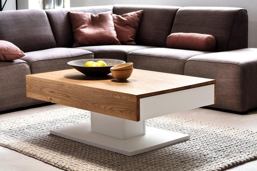 Couchtisch lara ii 110x70x40 cm wei eiche furniert for Holztisch couch