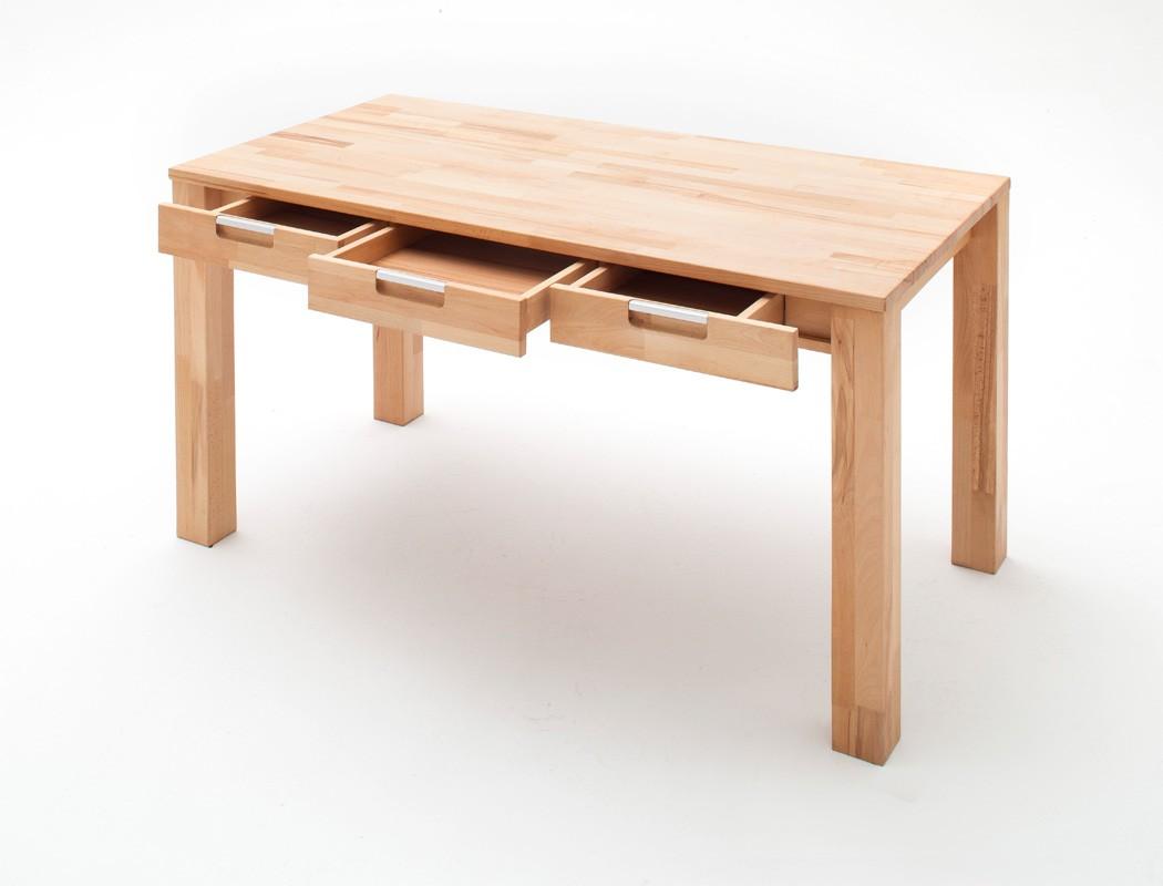 Schreibtisch 135x70x76 cm kernbuche massiv ge lt b rotisch for Schreibtisch 70 cm hoch