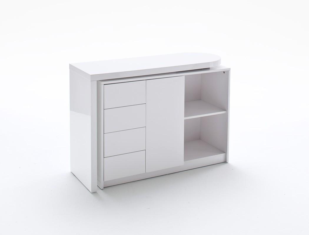 schreibtisch matteo wei hochglanz b rotisch computertisch regal b ro wohnbereiche wohnzimmer. Black Bedroom Furniture Sets. Home Design Ideas
