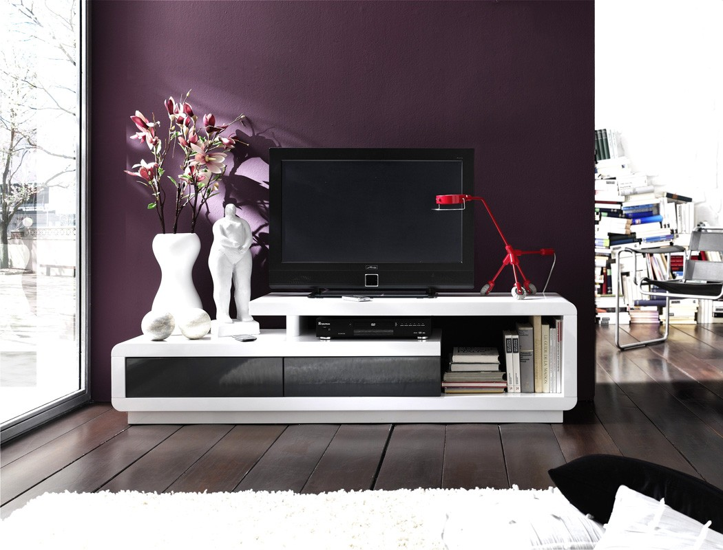 lowboard 170x45x40 cm hochglanz wei grau tv board tv m bel tv schrank celine ebay. Black Bedroom Furniture Sets. Home Design Ideas
