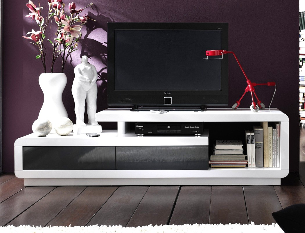 lowboard celine 170x45x40 cm hochglanz wei grau tv board. Black Bedroom Furniture Sets. Home Design Ideas