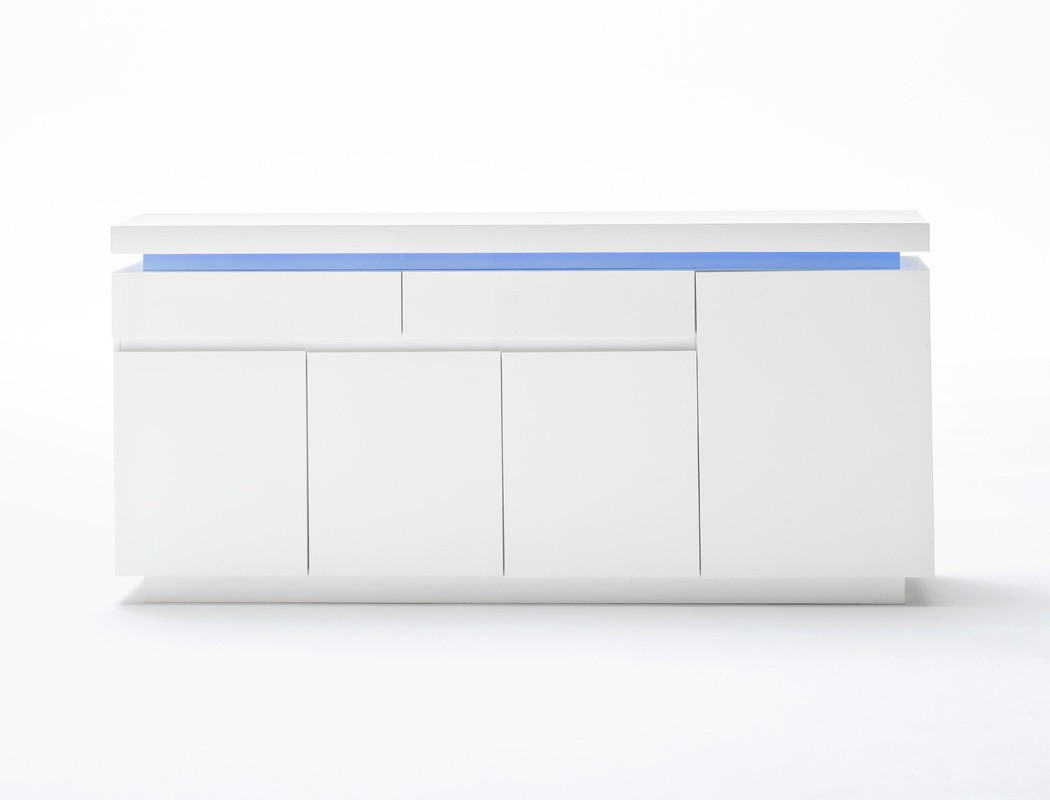 Sideboard 175x81x40 cm hochglanz wei led beleuchtung for Schrank 175 hoch