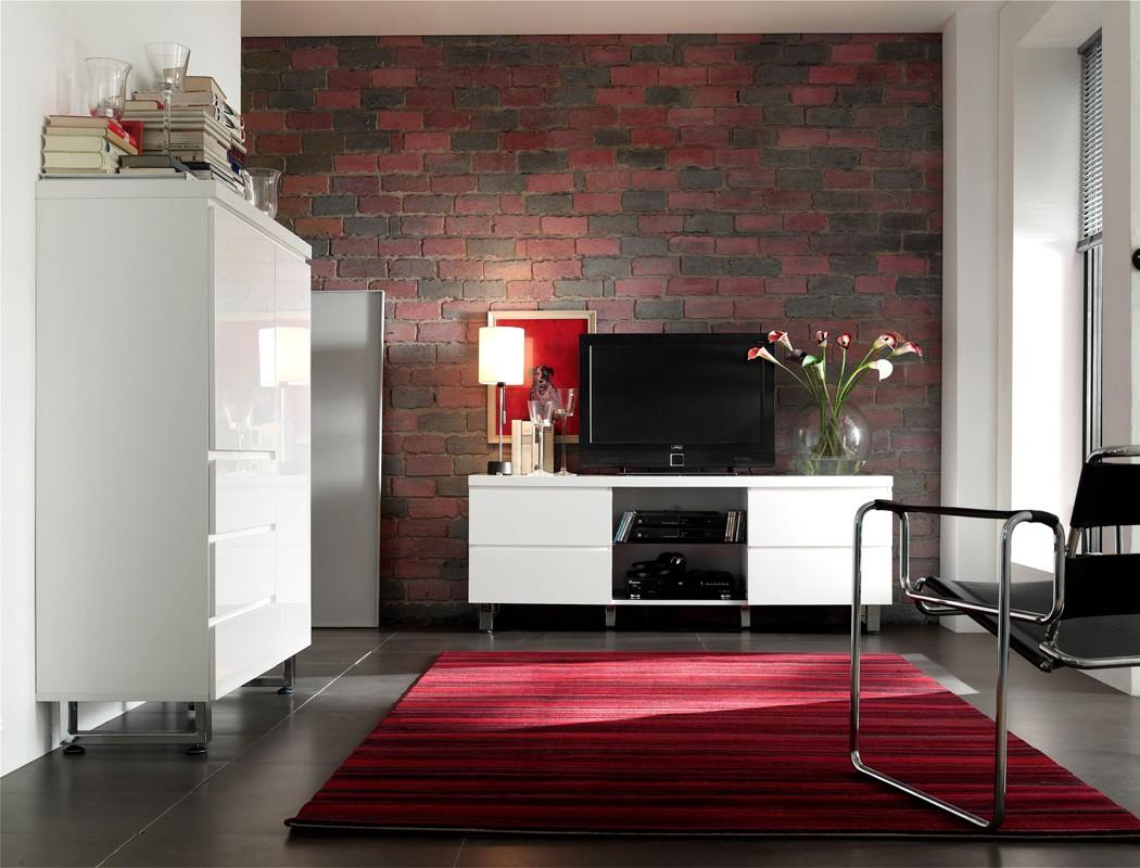 lowboard perth 167x63x42cm hochglanz wei tv board tv m bel tv schrank wohnbereiche wohnzimmer. Black Bedroom Furniture Sets. Home Design Ideas