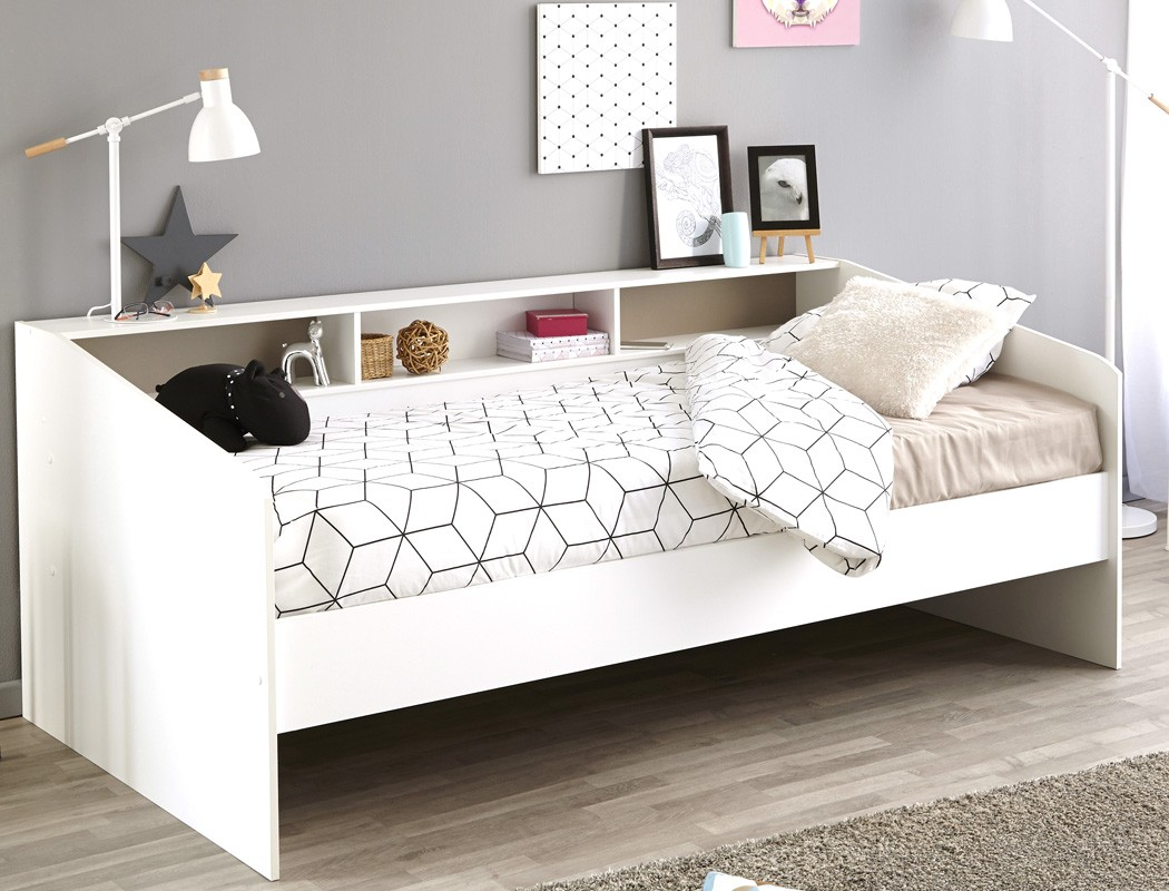 jugendbett bett 90x200 wei singlebett kinderbett kojenbett jugendzimmer selby 2 ebay. Black Bedroom Furniture Sets. Home Design Ideas