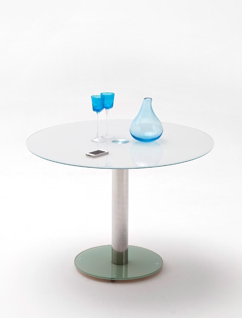 glastisch rund faris 100x77 cm wei esstisch s ulentisch rundtisch wohnbereiche esszimmer esstische. Black Bedroom Furniture Sets. Home Design Ideas