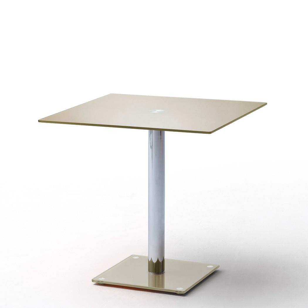 Glastisch filko 80x80x76 cm taupe esstisch s ulentisch for Esstisch taupe