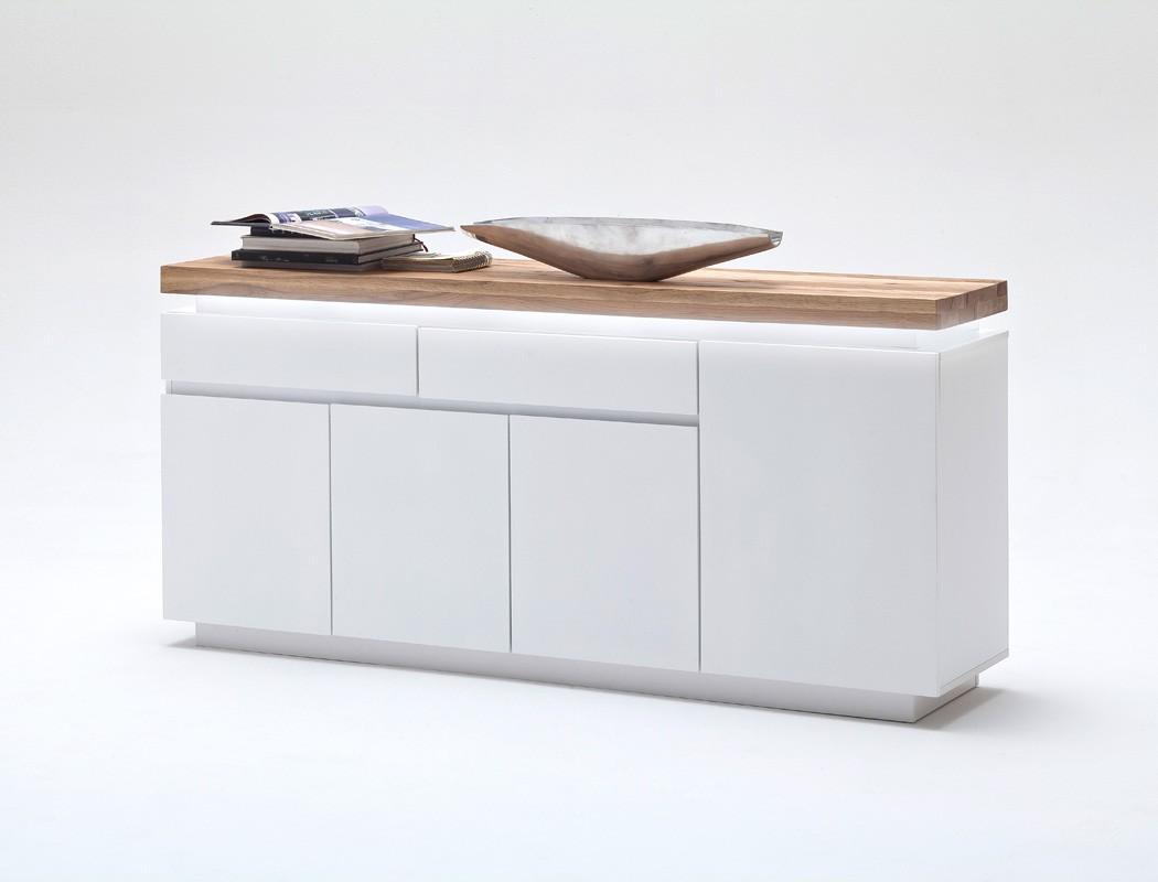 Sideboard Holz Weiss Wohnzimmer Rosita 175x81x40 Cm