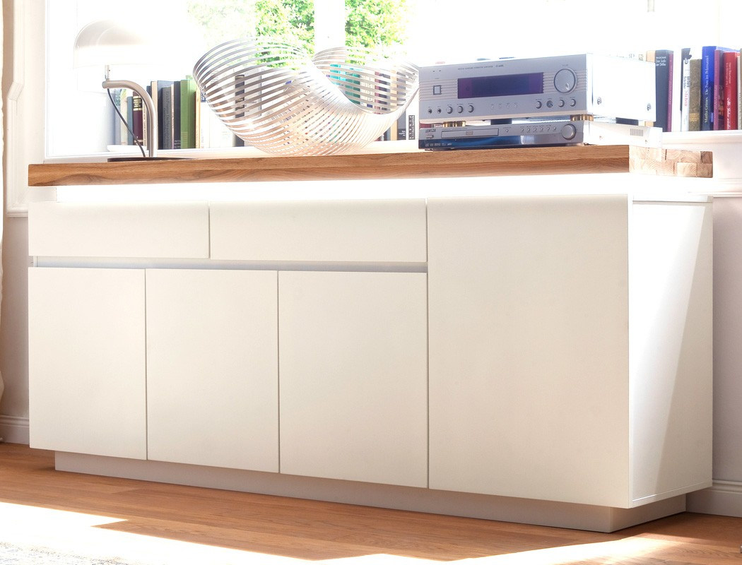 Sideboard 175x81x40 cm wei asteiche led beleuchtung for Sideboard 260 cm