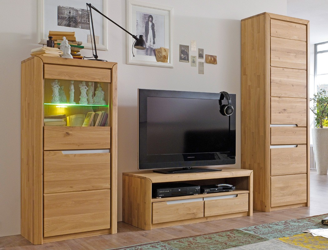 vitrine eiche massiv bianco 63x134x41 cm glasvitrine. Black Bedroom Furniture Sets. Home Design Ideas