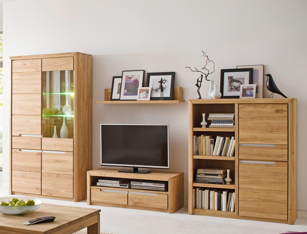 regal eiche massiv bianco 114x134x41 cm wohnzimmerschrank b cherregal pisa 4 ebay. Black Bedroom Furniture Sets. Home Design Ideas