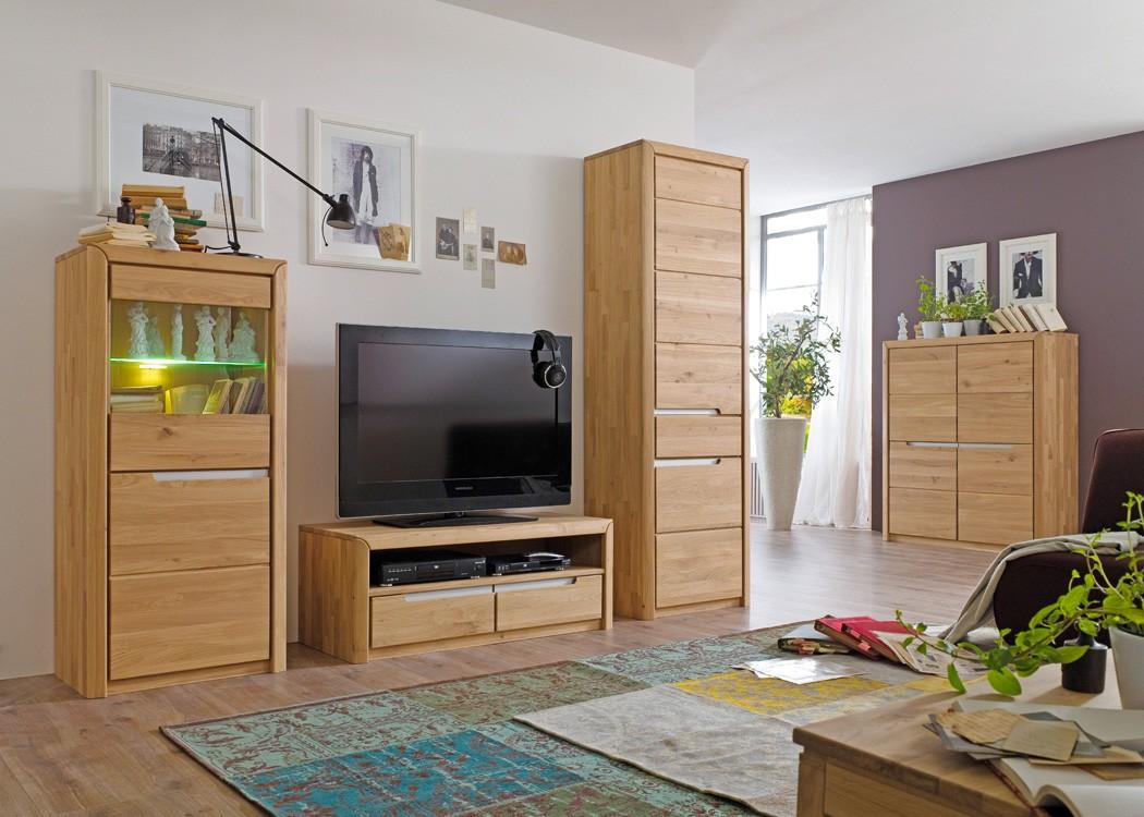 Wohnzimmerschrank pisa 6 eiche bianco massiv 63x198x41 cm schrank wohnbereiche esszimmer - Wohnzimmerschrank buche ...