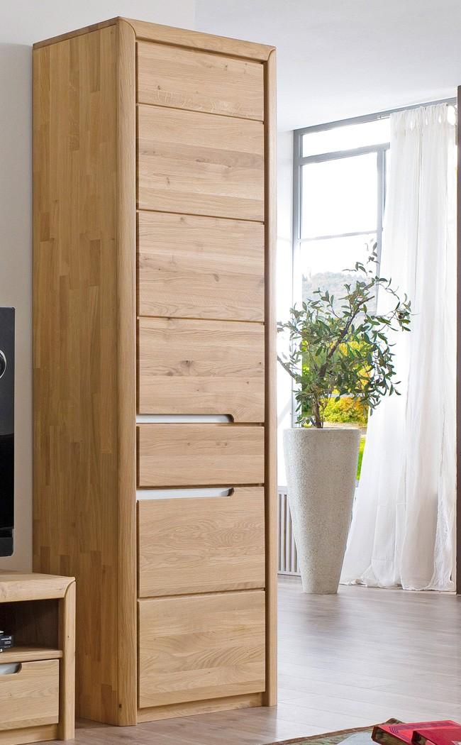 wohnzimmerschrank eiche massiv bianco 63x198x41 cm schrank wohnm bel pisa 6 ebay. Black Bedroom Furniture Sets. Home Design Ideas
