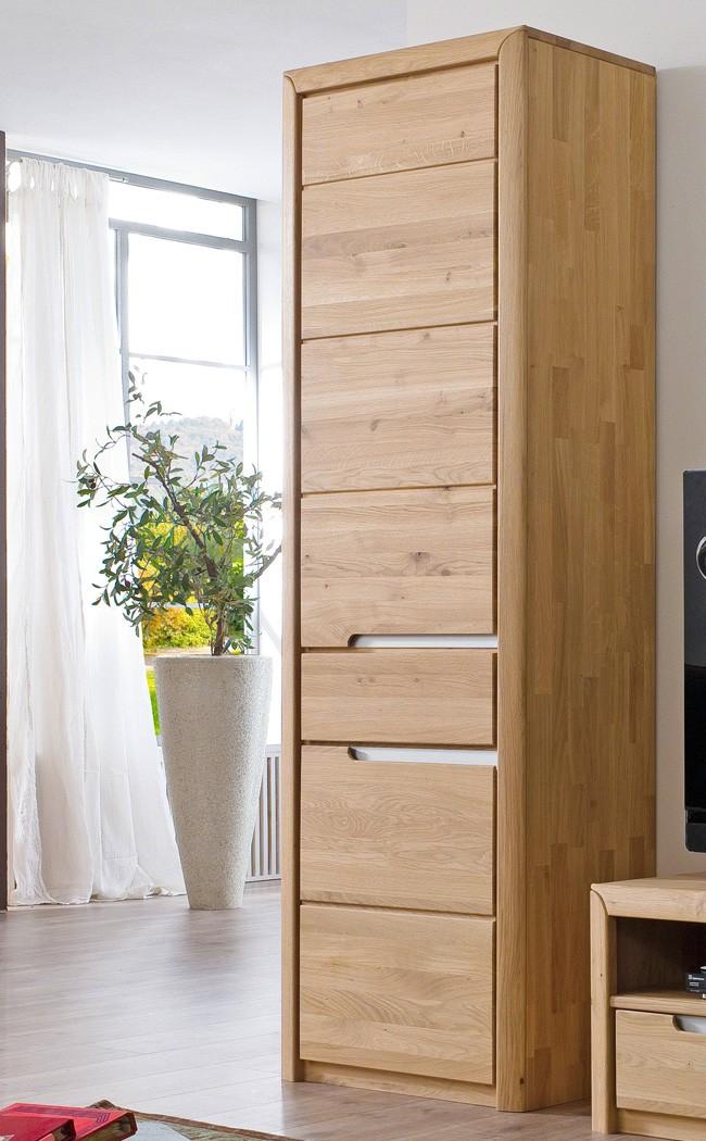 wohnzimmerschrank pisa 6 eiche bianco massiv 63x198x41 cm schrank wohnbereiche esszimmer. Black Bedroom Furniture Sets. Home Design Ideas