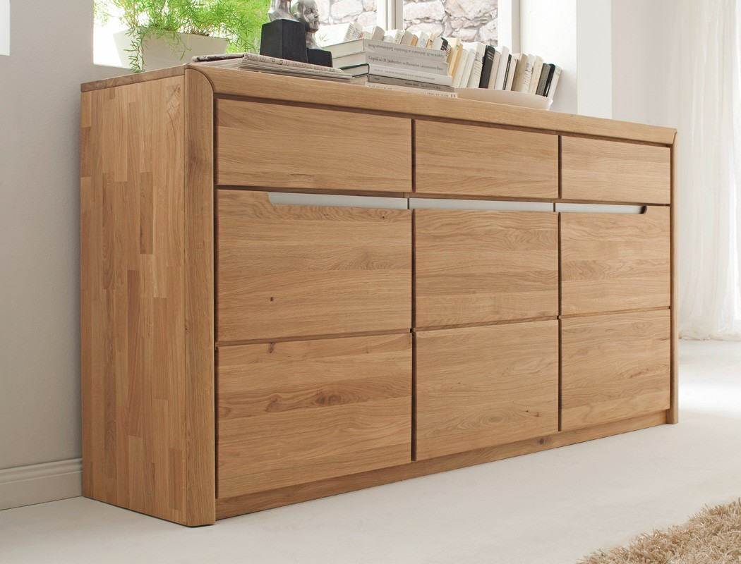 sideboard pisa 13 eiche bianco massiv 180x90x41 cm anrichte kommode wohnbereiche wohnzimmer. Black Bedroom Furniture Sets. Home Design Ideas