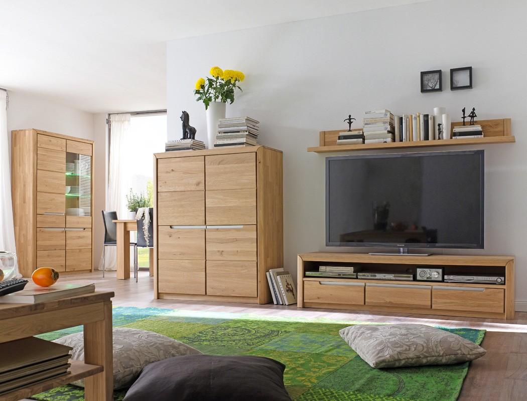 Wohnzimmer pisa 54 eiche bianco massiv 4 teilig wohnwand wohnm bel wohnbereiche wohnzimmer - Eiche bianco wohnzimmer ...