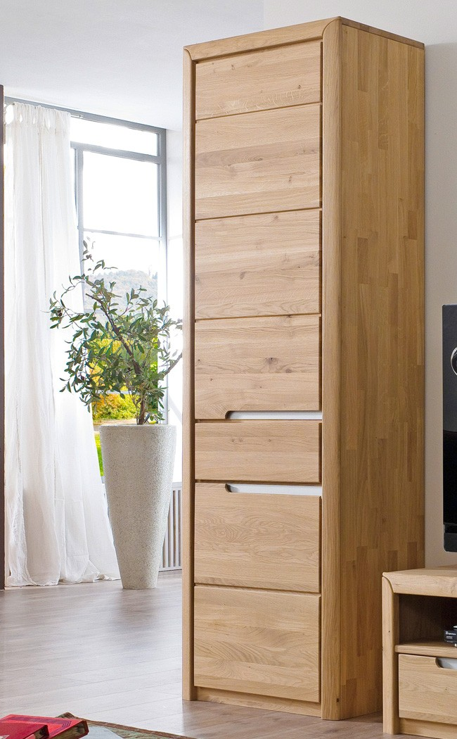 wohnzimmer pisa 55 eiche bianco massiv 4 teilig wohnwand. Black Bedroom Furniture Sets. Home Design Ideas
