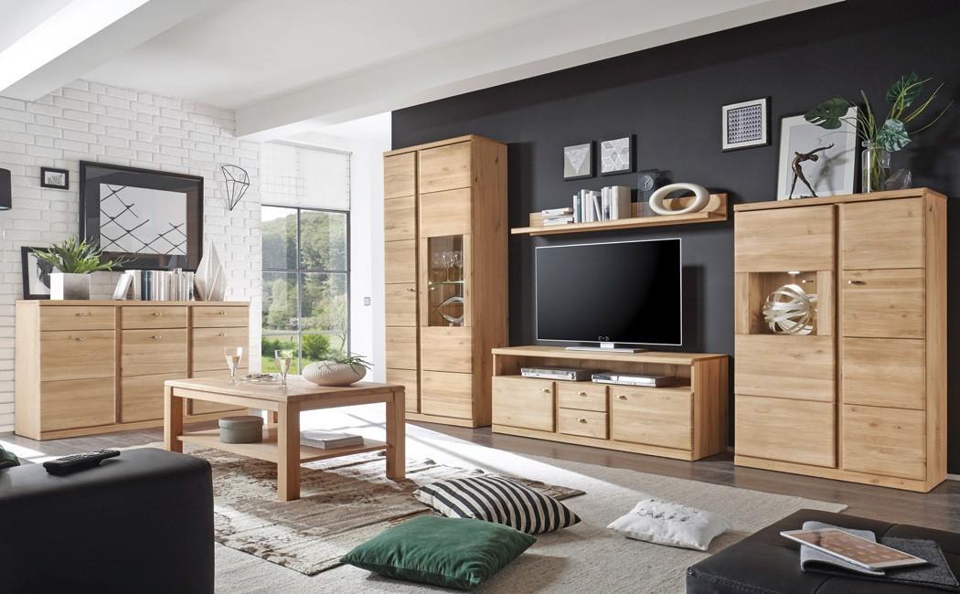 Sideboard 158x90x45 cm wildeiche teilmassiv anrichte - Anrichte wohnzimmer ...