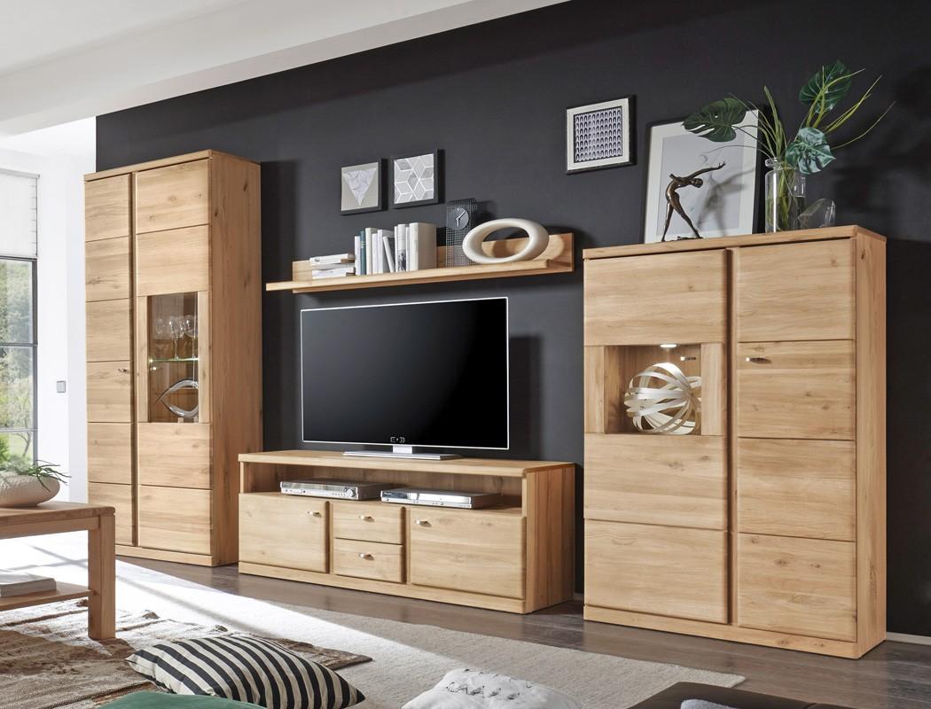 wohnwand lanciano 4 teilig wildeiche teilmassiv medienwand tv wand wohnbereiche wohnzimmer wohnw nde. Black Bedroom Furniture Sets. Home Design Ideas