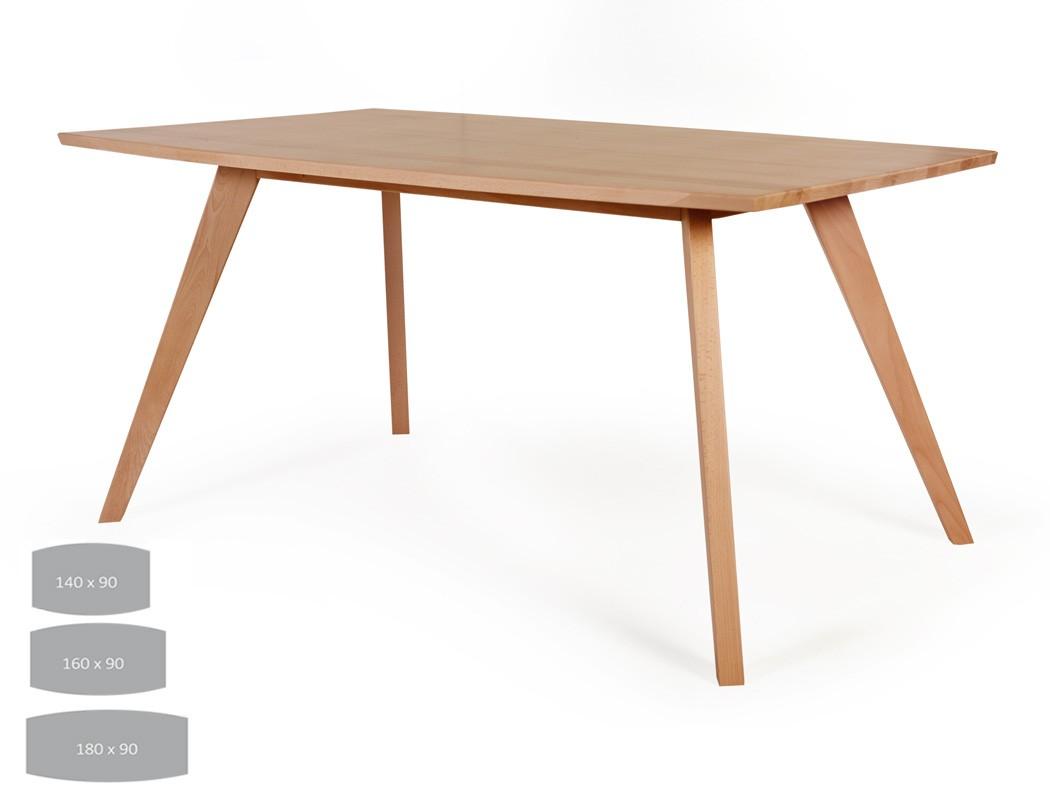Esstisch tromsa tisch mit fester platte bootsform variante for Weisser tisch mit dunkler platte
