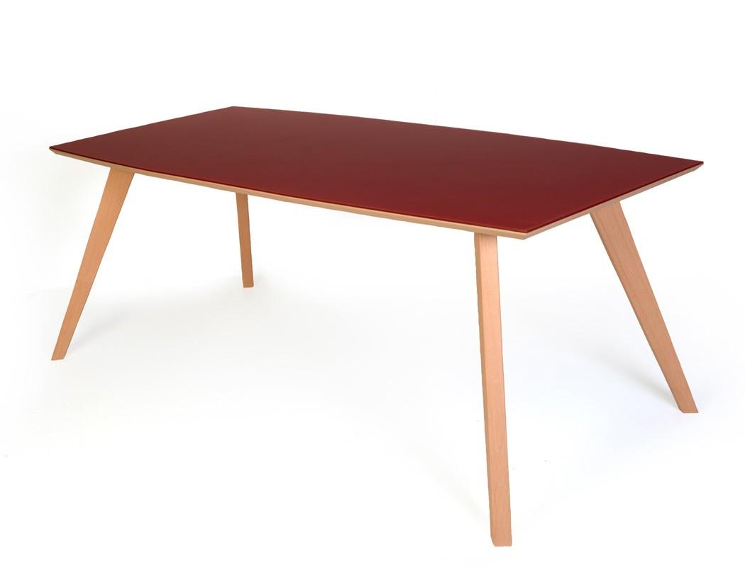 Esstisch tromsa vidrio tisch mit glasplatte bootsform for Esstisch mit glasplatte