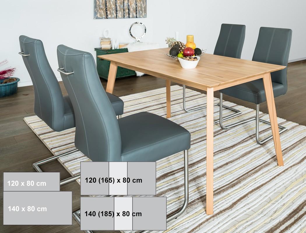 esstisch ausziehbar 140x80 top esstisch x cm rafael with esstisch ausziehbar 140x80 esstisch. Black Bedroom Furniture Sets. Home Design Ideas
