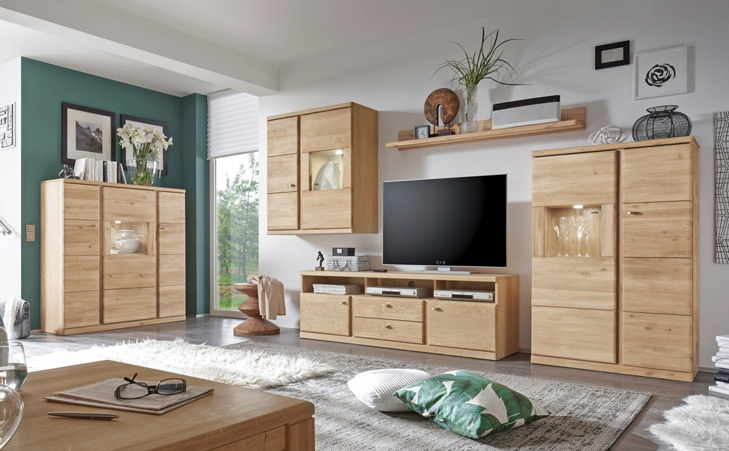 wohnzimmer lanciano 5 teilig wildeiche teilmassiv wohnwand highboard wohnbereiche wohnzimmer. Black Bedroom Furniture Sets. Home Design Ideas