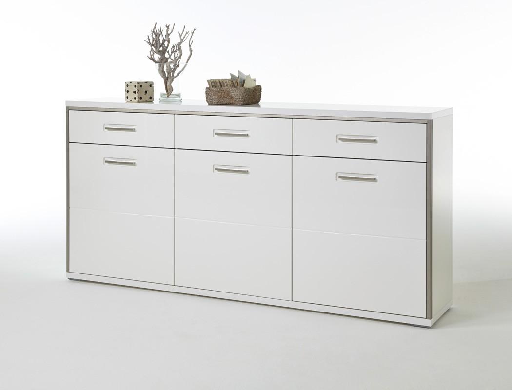 Sideboard wei hochglanz 184x89x45 cm anrichte wohnzimmer for Sideboard 260 cm