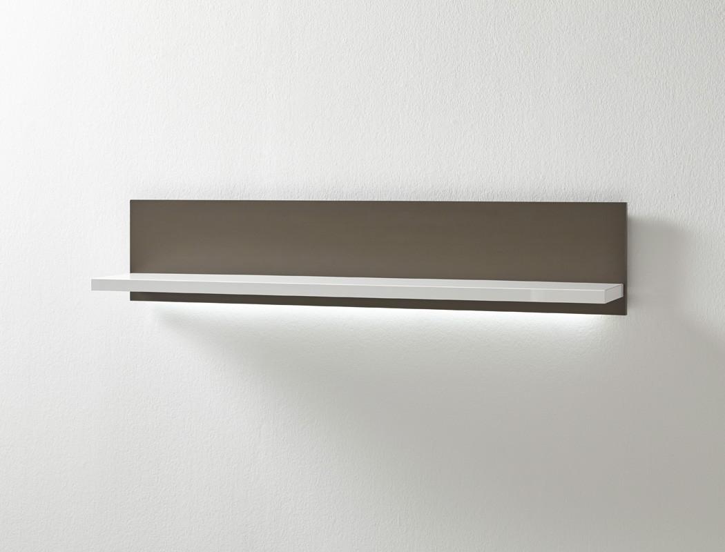 wandboard travis 11 wei grau 124x25x23 cm wandregal regal. Black Bedroom Furniture Sets. Home Design Ideas