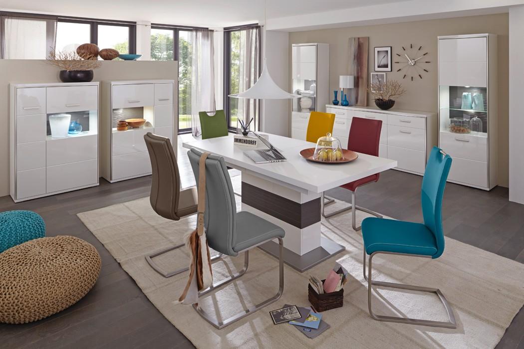 Säulentisch Travis 13 Weiß 180(280)x100x77 Cm Esszimmertisch Esstisch  Küchentisch Eckbanktisch Tisch U2013