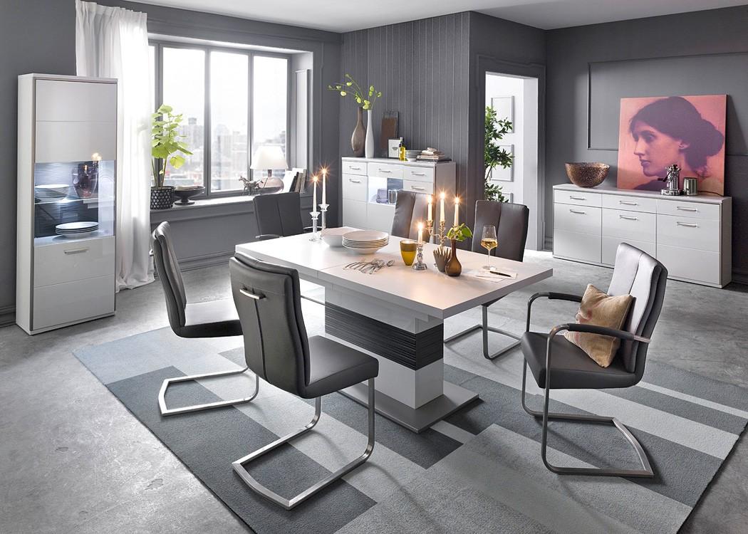 s ulentisch travis 13 wei 180 280 x100x77 cm esszimmertisch esstisch wohnbereiche esszimmer. Black Bedroom Furniture Sets. Home Design Ideas