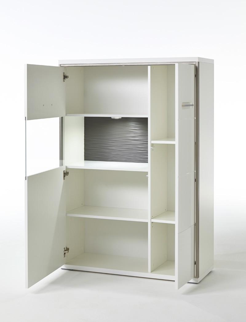 wohnwand travis 21 wei hochglanz 4 teilig medienwand tv. Black Bedroom Furniture Sets. Home Design Ideas