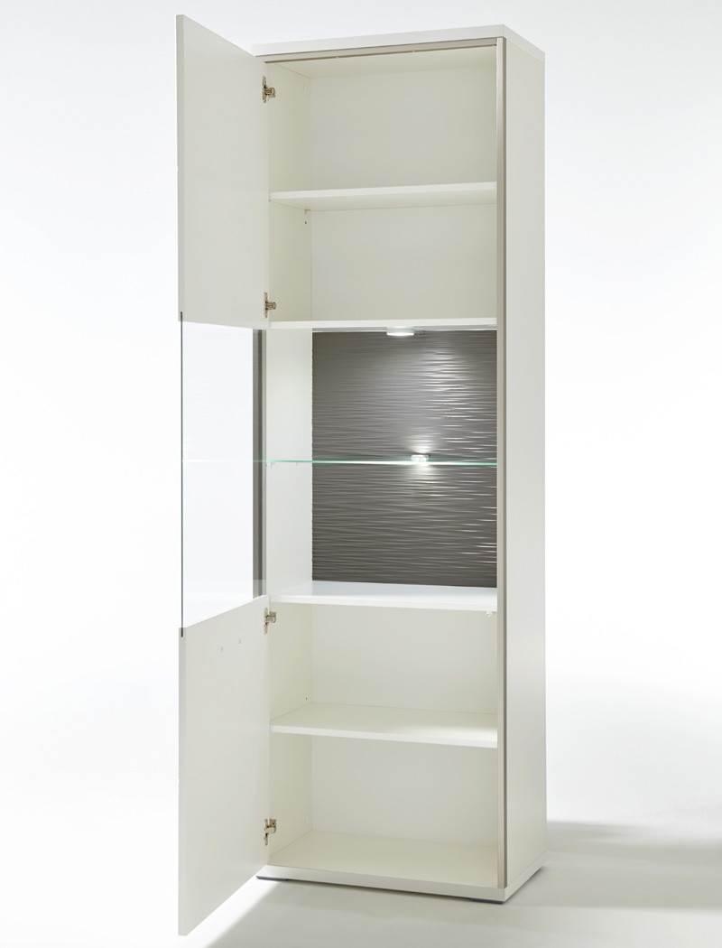 wohnwand travis 23 wei hochglanz 5 teilig medienwand tv. Black Bedroom Furniture Sets. Home Design Ideas