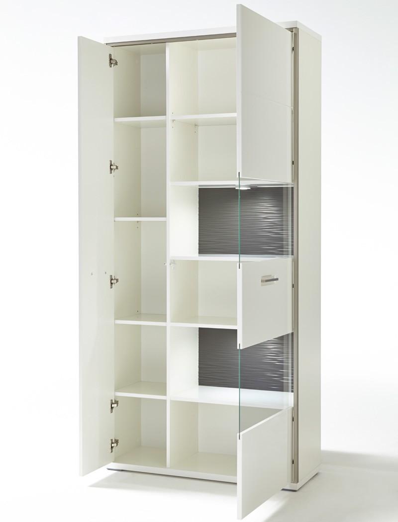 Esszimmer Travis 40 weiß Hochglanz 4-teilig Esstisch Sideboard Vitrine Wohnbereiche Esszimmer ...